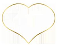 Bild: Golden schimmerndes Herz