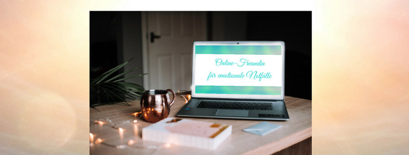 Bild: Banner für das digitale Online-Training: Online-Freundin für emotionale Notfälle von Daniela Lasinger.