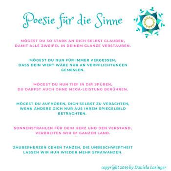 Poesie für die Sinne by Daniela Lasinger