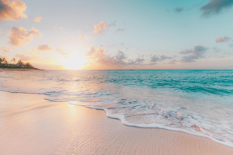 Bild: Meeresstrand als Titelbild für 1:1 Session Online